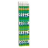 Football Pencils - Pack of 6